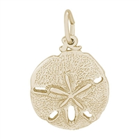 Rembrandt Sand Dollar Charm, 10K Yellow Gold