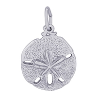 Rembrandt Sand Dollar Charm, Sterling Silver