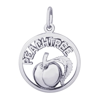 Rembrandt Peachtree Peach Charm, Sterling Silver