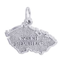 Rembrandt Czech Map Charm, Sterling Silver
