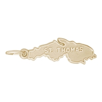 Rembrandt St. Thomas Charm, Gold Plated Silver