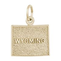 Rembrandt Wyoming Charm, Gold Plated Silver