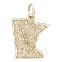 Rembrandt Minnesota Charm, 14K Yellow Gold