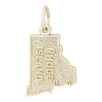 Rembrandt Rhode Island Charm, Gold Plated Silver