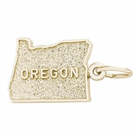 Rembrandt Oregon Charm, Gold Plated Silver