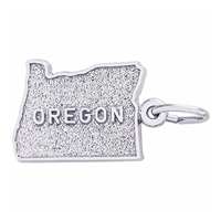 Rembrandt Oregon Charm, 14K White Gold