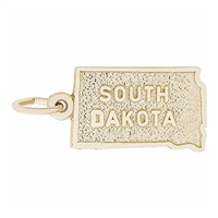 Rembrandt South Dakota Charm, Gold Plated Silver