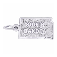 Rembrandt South Dakota Charm, 14K White Gold