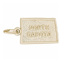 Rembrandt North Dakota Charm, Gold Plated Silver