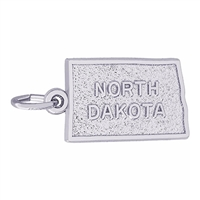 Rembrandt North Dakota Charm, 14K White Gold