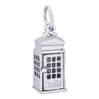 Rembrandt Phone Booth Charm, Sterling Silver