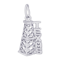 Rembrandt Texas Oil Rig Charm, Sterling Silver