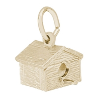 Rembrandt Birdhouse Charm, Gold Plated Silver