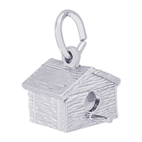 Rembrandt Birdhouse Charm, Sterling Silver