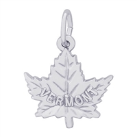 Rembrandt Vermont Maple Leaf Charm, 14K White Gold