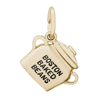 Rembrandt Boston Baked Beans Charm, Gold Plated Silver