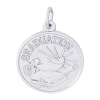 Rembrandt Graduation Charm, Sterling Silver