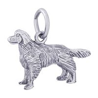 Rembrandt Golden Retriever Charm, Sterling Silver