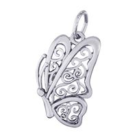Rembrandt Butterfly Charm, Sterling Silver
