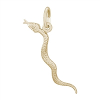 Rembrandt Snake Charm, Gold Plated Silver