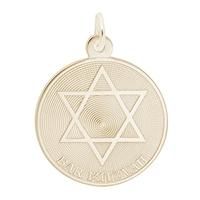 Rembrandt Bar Mitzvah Charm, Gold Plated Silver