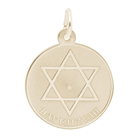 Rembrandt Bat Mitzvah Charm, Gold Plated Silver