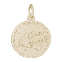 Rembrandt Our Engagement Charm, Gold Plated Silver