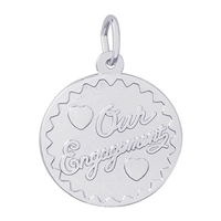 Rembrandt Our Engagement Charm, Sterling Silver