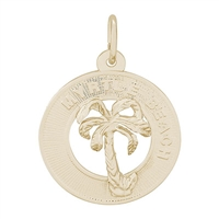 Rembrandt Myrtle Beach Charm, Gold Plated Silver