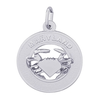 Rembrandt Maryland Charm, Sterling Silver