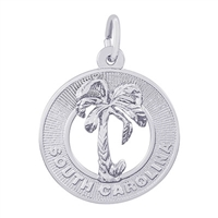 Rembrandt South Carolina Charm, Sterling Silver