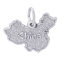 Rembrandt China Map Charm, Sterling Silver