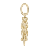 Rembrandt Seaotter Charm, Gold Plated Silver