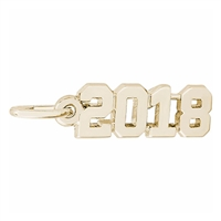 Rembrandt 2018 Charm, Gold Plated Silver