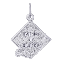 Rembrandt District Of Columbia Charm, Sterling Silver