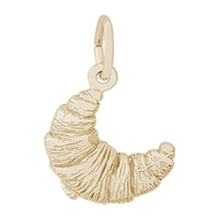 Rembrandt French Croissant Charm, Gold Plated Silver