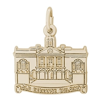 Rembrandt Old Exchange Building Charm, Gold Plated Silver