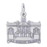 Rembrandt Old Exchange Building Charm, Sterling Silver