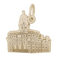 Rembrandt South Carolina Temple Charm, Gold Plated Silver