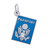Rembrandt Passport Charm, Sterling Silver