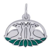 Rembrandt 04 Calling Birds Charm, Sterling Silver
