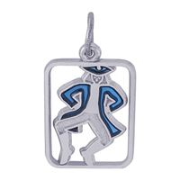 Rembrandt 10 Lords A Leaping Charm, Sterling Silver