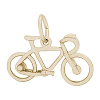 Rembrandt Bicycle Charm, Gold Plated Silver