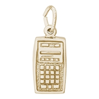 Rembrandt Calculator Charm, Gold Plated Silver