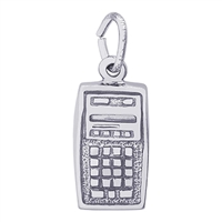 Rembrandt Calculator Charm, Sterling Silver
