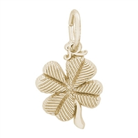Rembrandt Small 4 Leaf Clover Charm, Gold Plated Silver