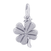 Rembrandt Small 4 Leaf Clover Charm, Sterling Silver