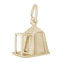 Rembrandt Camping Tent Charm, Gold Plated Silver