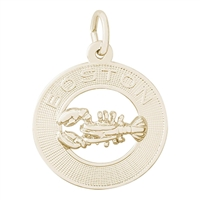 Rembrandt Boston Lobster Charm, Gold Plated Silver
