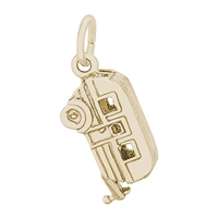 Rembrandt Trailer Charm, 10K Yellow Gold